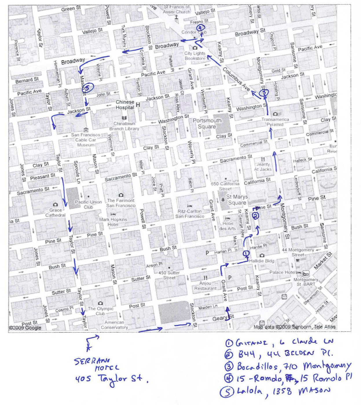 "The ""Crawl"" Route thru the City"